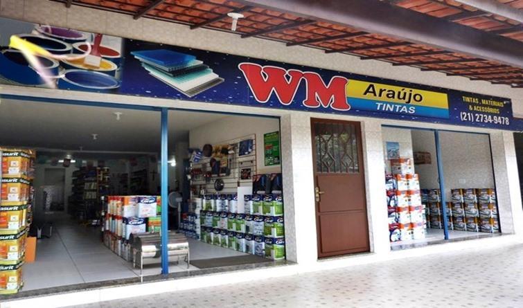 WM Araújo Tintas Automotivas, imobiliárias e industriais em Rio Bonito